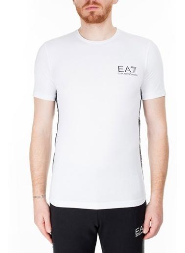 EA7 Emporio Armani  T Shirt Erkek T Shırt 3Hpt07 Pj03Z 1100 Beyaz